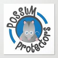Possum Protectors Canvas Print