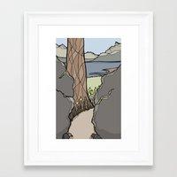 Trail Tree Framed Art Print