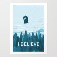 I Believe - Blue Art Print