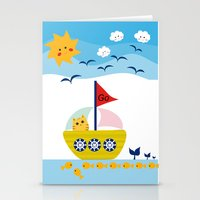 Sailing Cat Stationery Cards