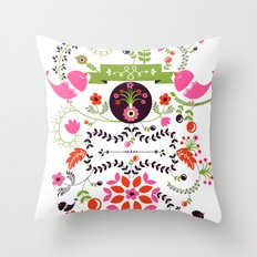 Bird Love Throw Pillow