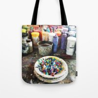 Plate of Colour Tote Bag