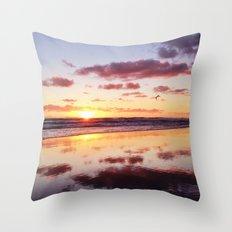 Sunset in Newport Beach Throw Pillow