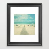 Vintage summer. Happy days Framed Art Print