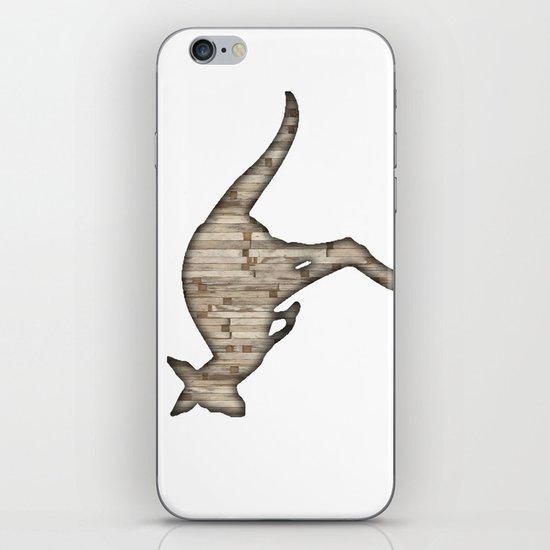 wooden kangaroo iPhone & iPod Skin