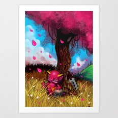 Little Oni Art Print
