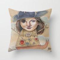 PIRATE ROBOT MERMAID Throw Pillow