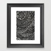 Radiating Framed Art Print