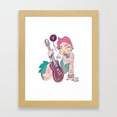 Rock Girl Framed Art Print
