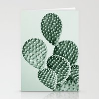 Green Bunny Ears Cactus  Stationery Cards