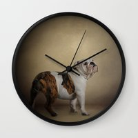 I Think I Smell A Treat - Bulldog Puppy Wall Clock