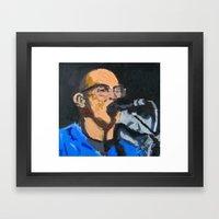 Portrait Of Tom Beyer Framed Art Print