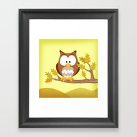 Woodland Animals Serie I. Owl Framed Art Print