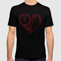 Love Bike Mens Fitted Tee Black SMALL