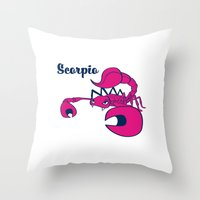 Scorpio: The Scorpion Throw Pillow
