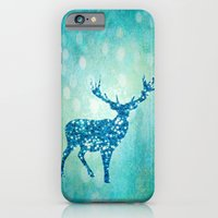 iPhone Cases featuring Blue deer by UtArt