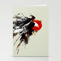 Eruption Eagle Stationery Cards