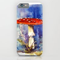 Fly Agaraic, Magic Mushroom, Mushroom, Shrooms, woodland, fairytale, toadstool iPhone 6 Slim Case