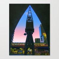 Crane Docklands London Canvas Print