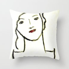 Sketched Throw Pillow