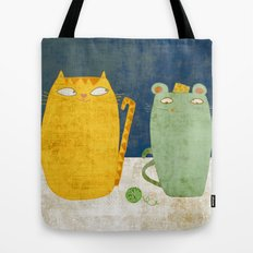 Cat-mouse friendship Tote Bag
