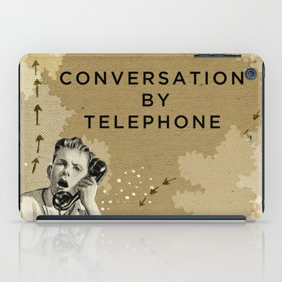Conversation by Telephone iPad Case