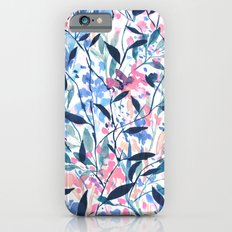 Wandering Wildflowers Blue iPhone 6 Slim Case