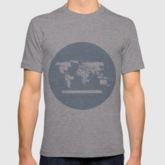 Map Mens Fitted Tee Athletic Grey SMALL