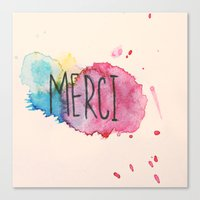 Merci Canvas Print