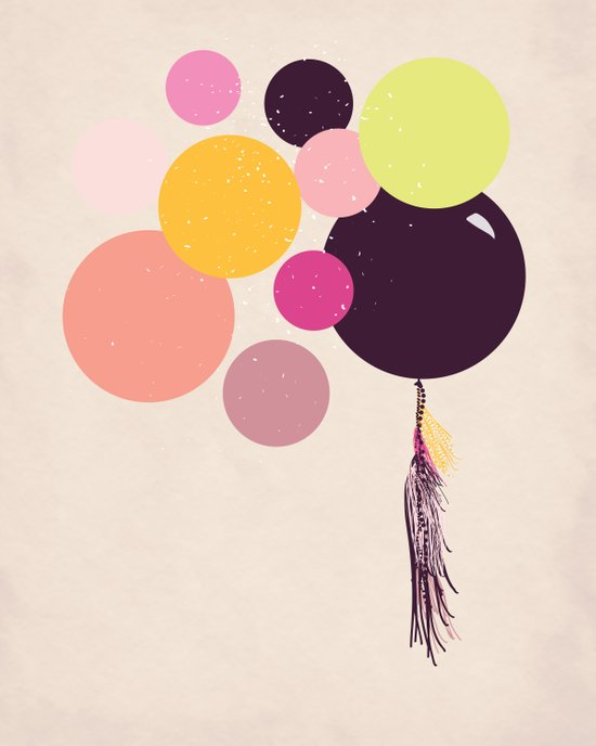 Balloons//One Canvas Print
