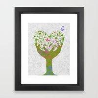 Butterfly Love Tree Framed Art Print