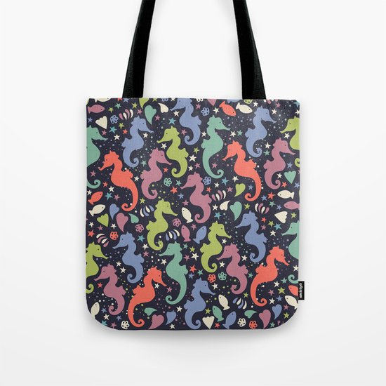 Dancing Seahorses Tote Bag