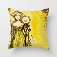 Cymbeline - Shakespeare Folio Illustration Throw Pillow