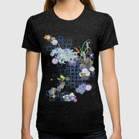 Japanese Garden Womens Fitted Tee Tri-Black SMALL