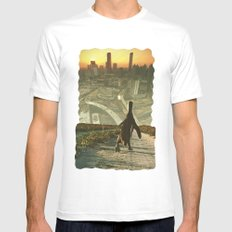 Penguin City Mens Fitted Tee SMALL White
