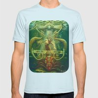 DJ Seahorse Mens Fitted Tee Light Blue SMALL