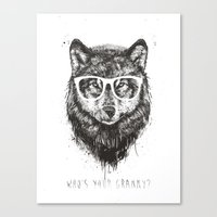 Who's your granny? (b&w) Canvas Print
