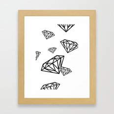 parachute diamonds Framed Art Print