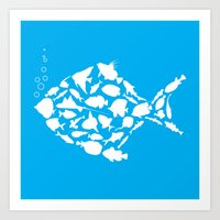 Fish Are Friends..... Art Print
