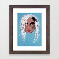 Lady Of The Eighties - P… Framed Art Print