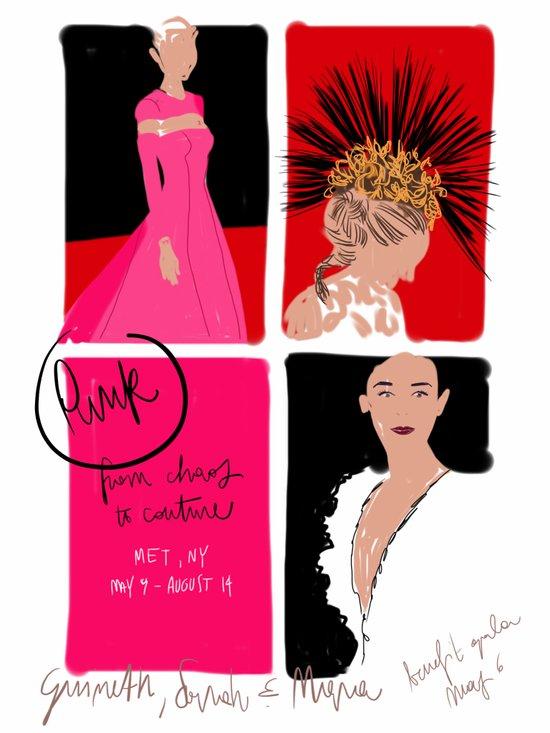 #theSliceSerie: Punk at MET Art Print