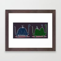 Single or Double(Couple)? Framed Art Print