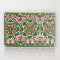 Brown & Green Boho Floral Pattern Laptop & iPad Skin