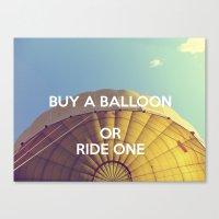 Buy A Balloon Canvas Print