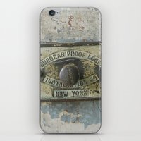 DUMBO Loft Door Lock-Brooklyn, New York iPhone & iPod Skin