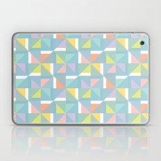 pinwheels - blue Laptop & iPad Skin