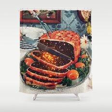 Roast with Mushrooms Shower Curtain