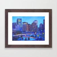 Denver Skyline Framed Art Print