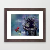 lair of the witch Framed Art Print