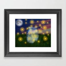 Summer Fireflies Framed Art Print
